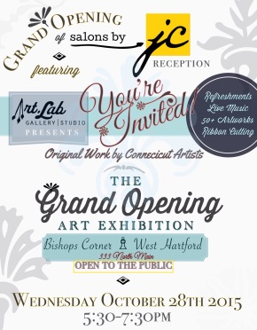 Art.Lab & Salons by JC [West Hartford] present The Grand Opening Art Exhibition 10/28